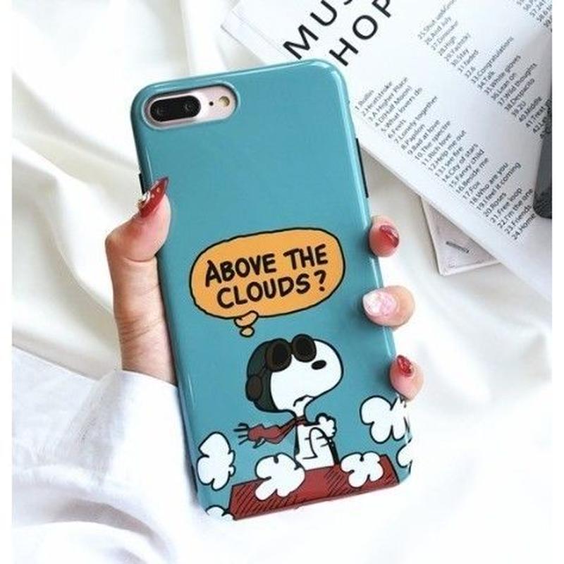 輸入雑貨 スヌーピー ケータイケース snoopy ケータイカバー  iphone X 最大種類 iphone 8 7 6 6 s-plus  マガジングリーン
