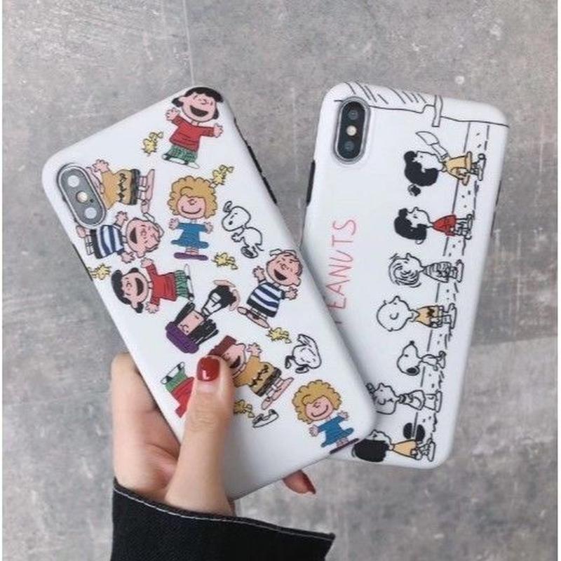輸入雑貨 スヌーピー ピーナッツ バンザイ 整列 snoopy iphone XR XsMAX 最大種類 iphone 8 7 6 6 s-plus