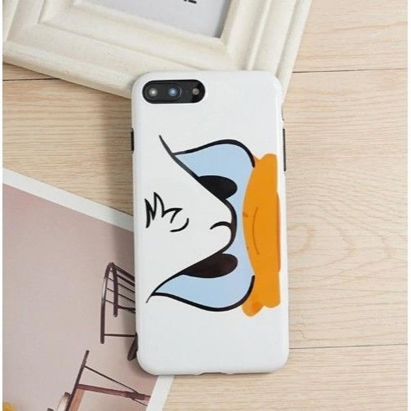 輸入雑貨 ドナルド デイジー ディズニー ケータイカバー  iphone X 最大種類 iphone 8 7 6 6 s-plus カップル ドナルド1
