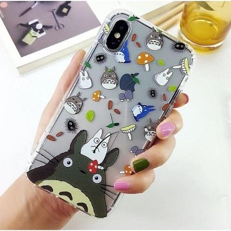 輸入雑貨 トトロ ケータイケース totoro ケータイカバー  iphone XR ケース 最大種類 iphone 8 7 6 6 s-plus トトロ仲間たち 5