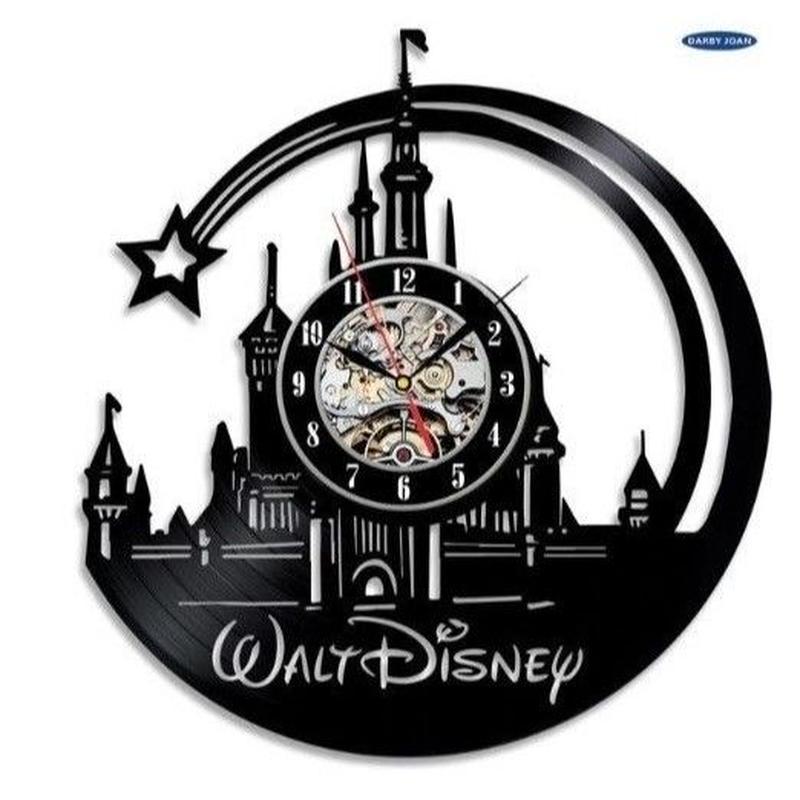 輸入雑貨 ディズニー ミッキー 仲間たち 30cm レコード盤 壁掛け時計 アニメ 映画 人気  インテリア ディスプレイ 3種類展開 1