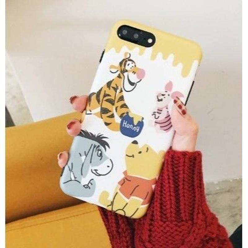 輸入雑貨 ディズニー プーさん ケータイカバー  iphone XR XsMAX 最大種類 iphone 8 7 6 6 s  プーさんフレンズ