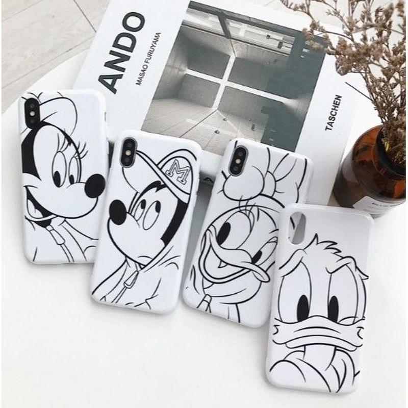 輸入雑貨 ミッキー 仲間たち ディズニー ケータイカバー  iphone XR XsMAX 最大種類 iphone 8 7 6 6 s-plus フレンド ミッキー