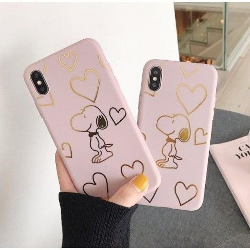 輸入雑貨 ゴールドハート スヌーピー snoopy iphone XR XsMAX 最大種類 iphone 8 7 6 6 s-plus