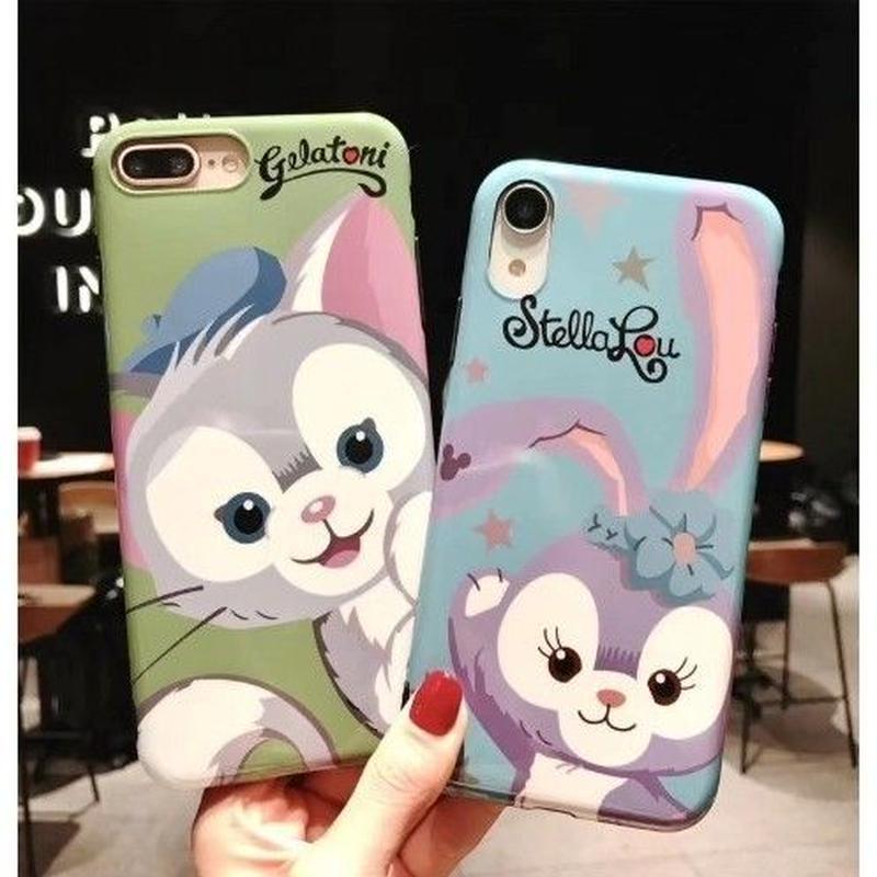 輸入雑貨 ダッフィー 仲間たち ディズニー ケータイカバー  iphone XR XsMAX 最大種類 iphone 8 7 6 6 s  ジェラトーニ♡ステラルー