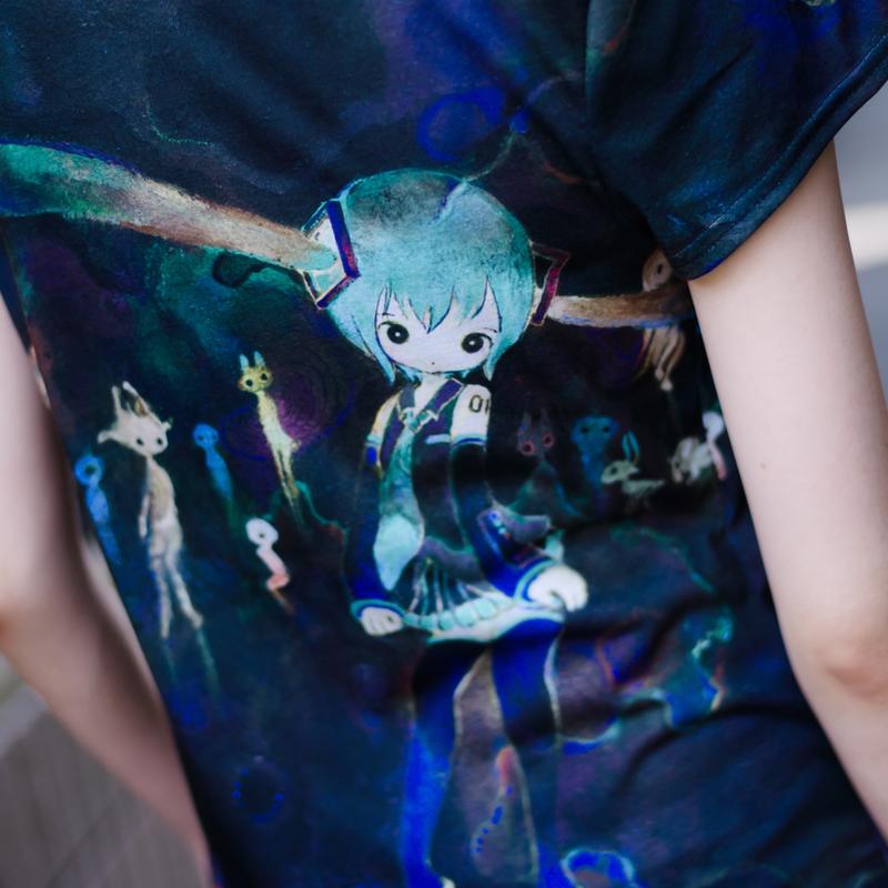 きくおミク6Tシャツ(闇)