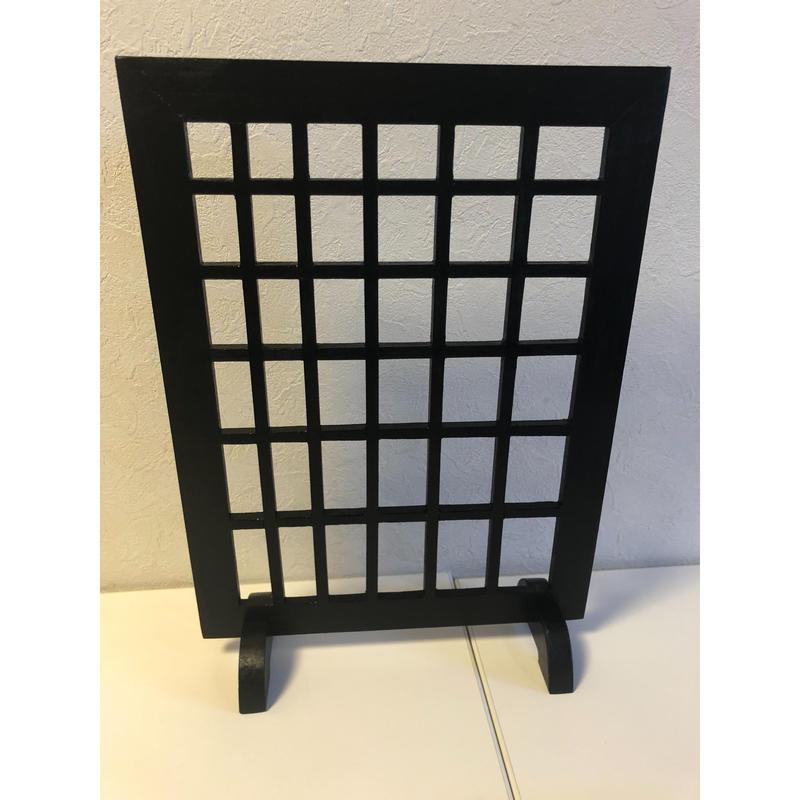 新型木製格子飾り台(着脱足付)(1週間以内に出荷)