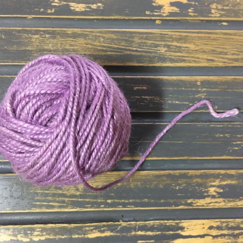 手染め麻糸/purple