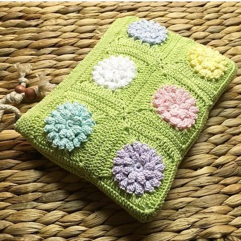 Flower motif pouch