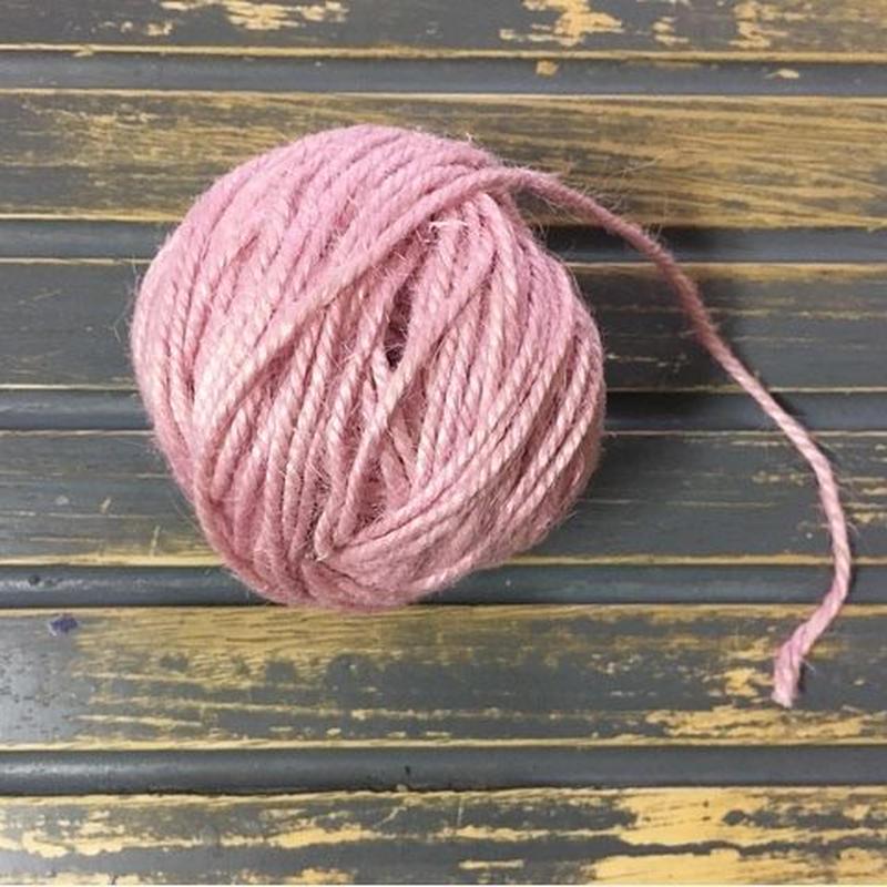 手染め麻糸/pale pink
