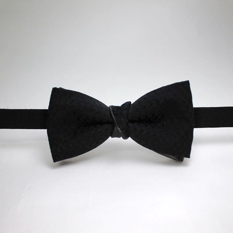 蝶ネクタイ Import fabric イタリア製ビンテージファブリック × リアルレザー 上京蝶帯 #377