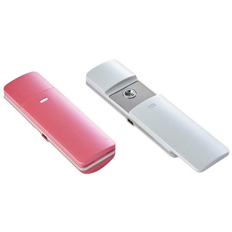 ハンディーナノスチーマー ピンク・ホワイトの二色