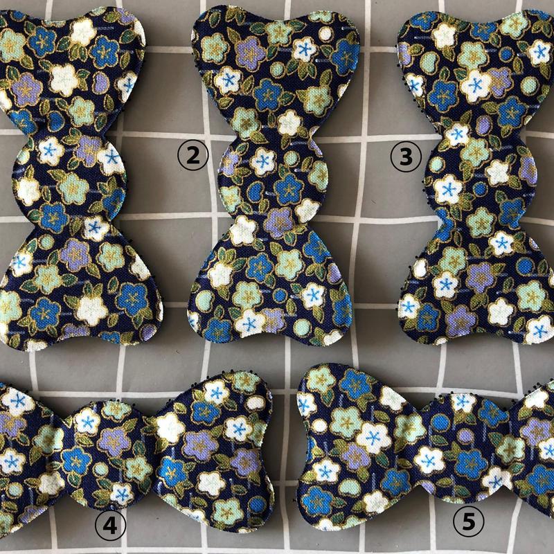 髪ピタ Kamipita  花柄 日本製 リボン  通常リボンサイズ 100*58mm
