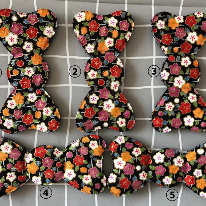 髪ピタ Kamipita  花柄 日本製 リボン  通常リボンサイズ100*58mm