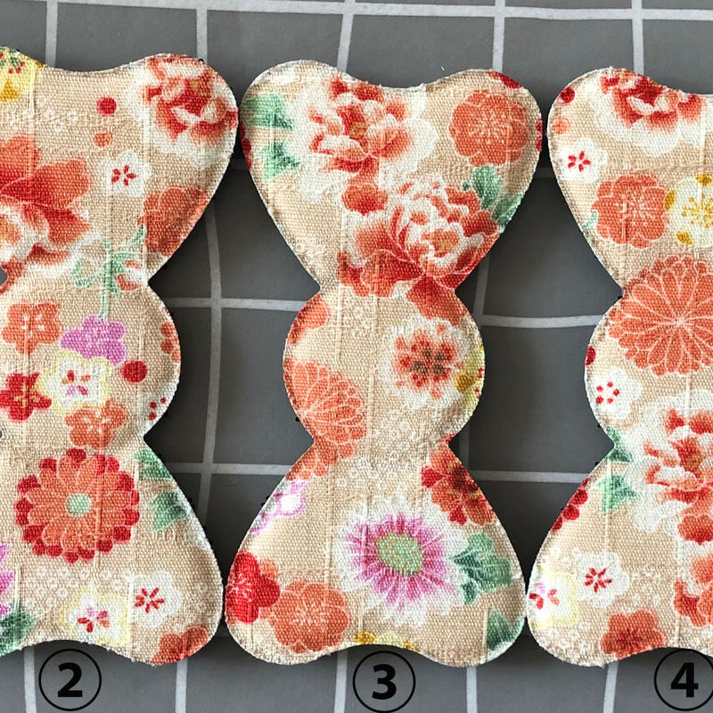髪ピタ Kamipita  花柄 日本製 リボン通常リボンサイズ100*58mm
