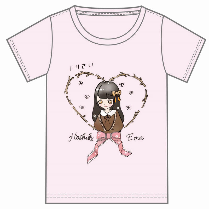 『星木エマ』生誕祭Tシャツ(スリジエ・虹組メンバー用6名分)