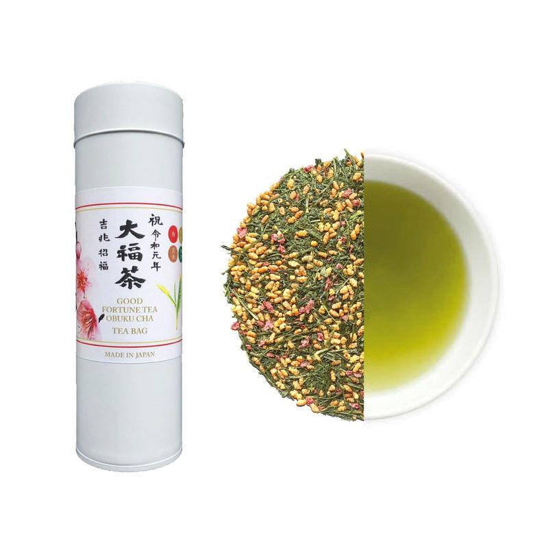 令和元年祝茶 大福茶(煎茶)ティーバッグ(缶)