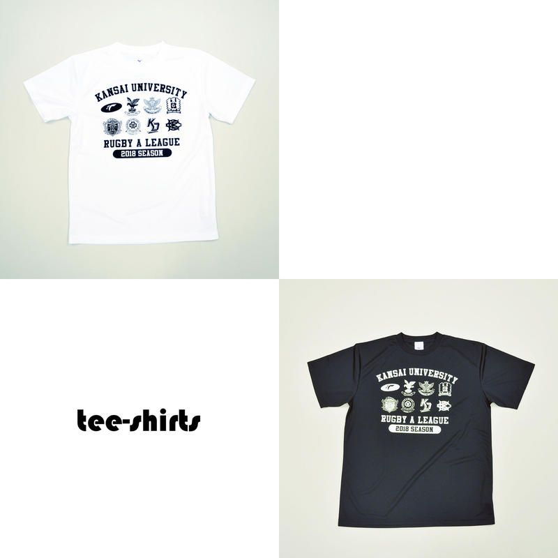 【関西大学Aリーグ】2018 全チームロゴ入りTシャツ:2色展開