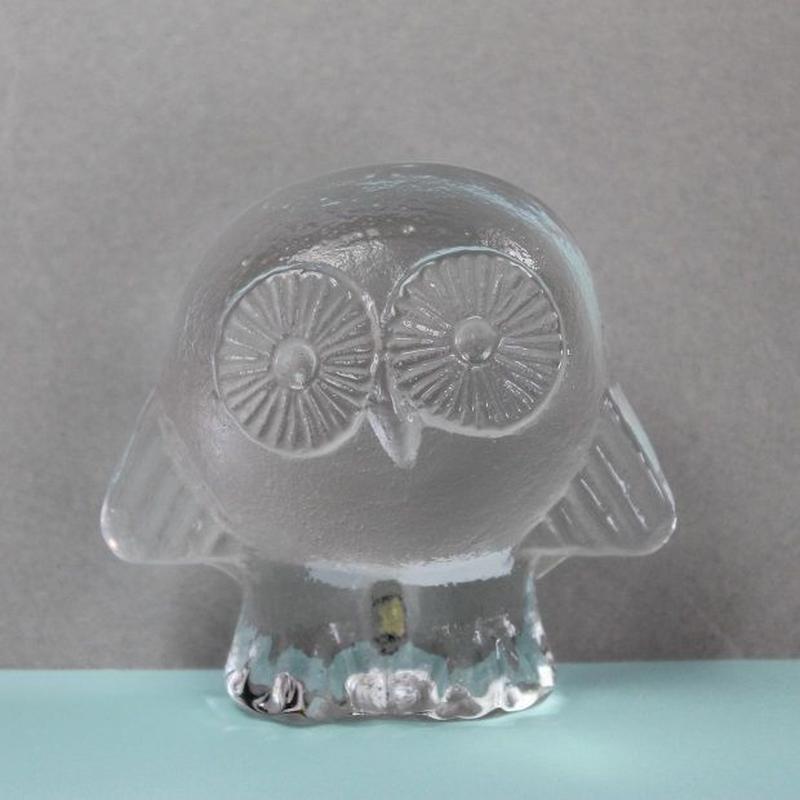 ロイヤルクローナ /  クリスタルガラス / フクロウ リサラーソンヴィンテージ