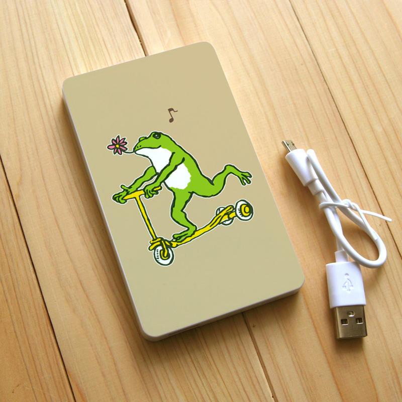 モバイルバッテリー カエルコースターGO(ベージュ)