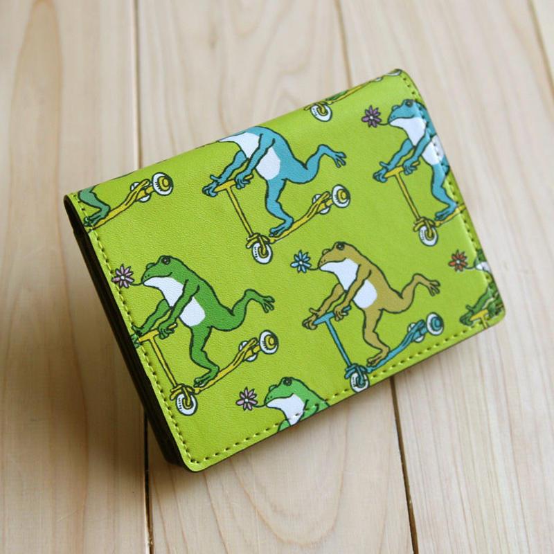 名刺・カードケース カエルコースターたち(あまがえる)