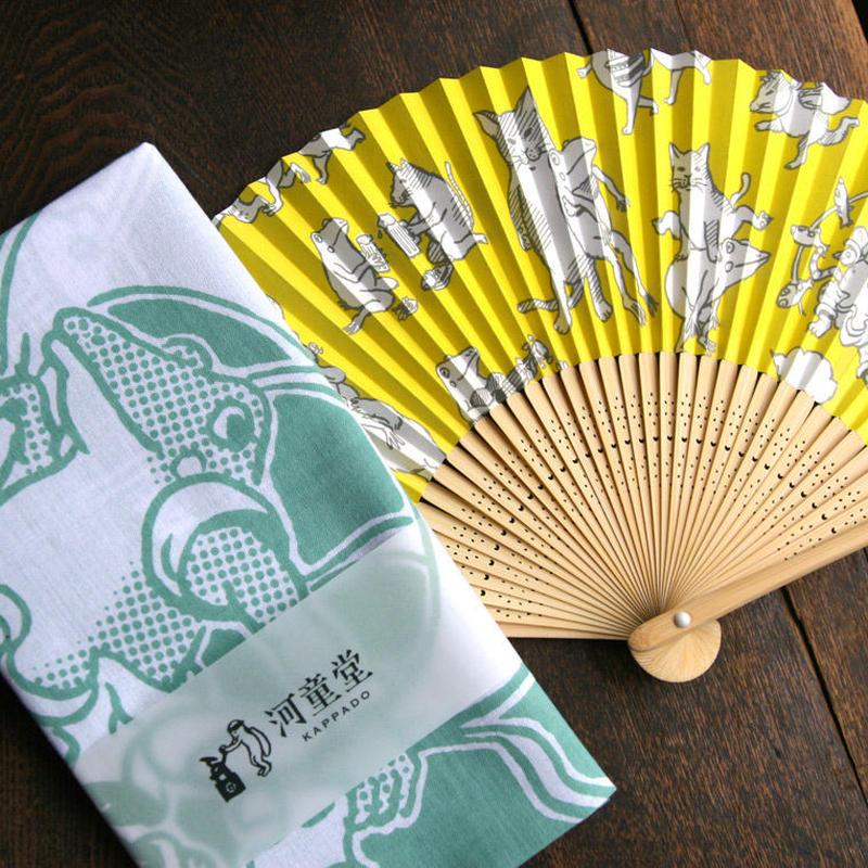 【送料無料】扇子&てぬぐい 夏の涼セット