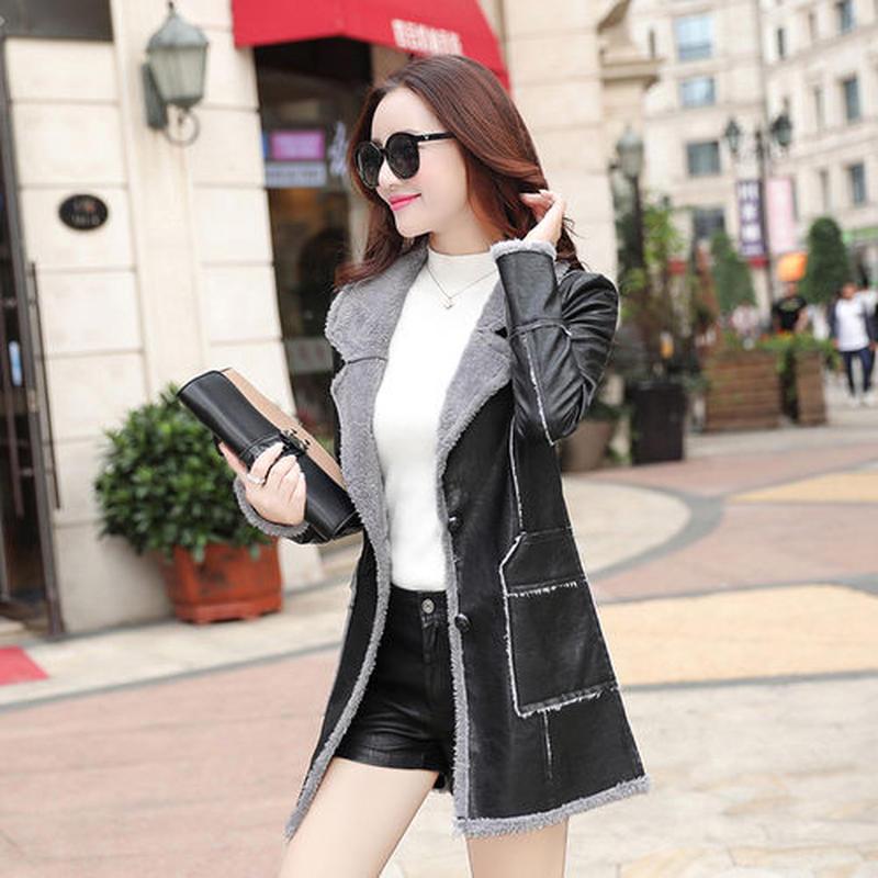 コート スリム 裏起毛 厚手 防寒保暖 無地 ファー付き ポケット ファッション 原宿系 全2色 大きいサイズ
