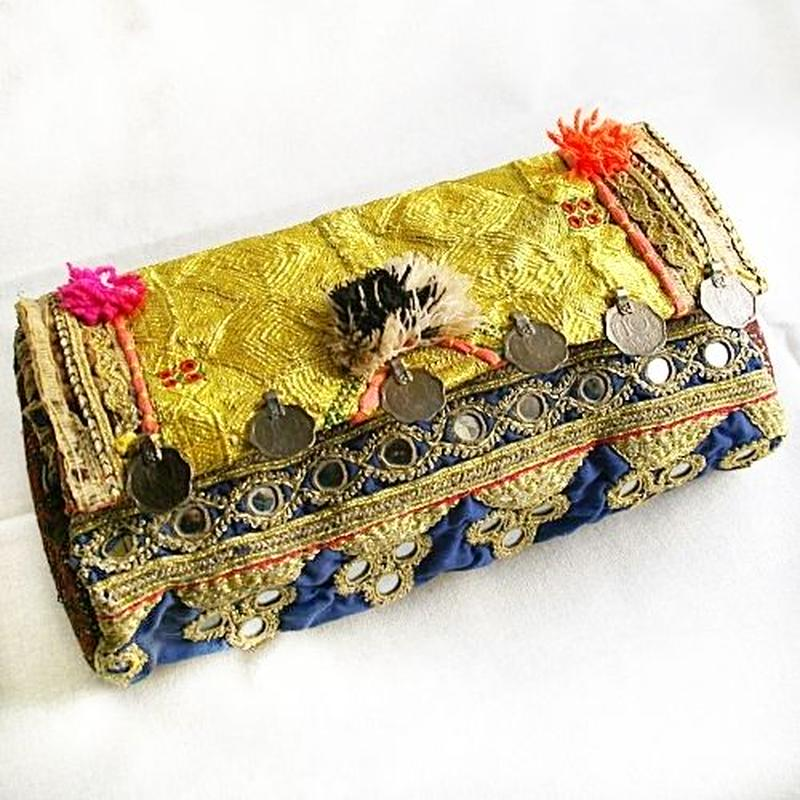 Banjara 2wayクラッチバッグ 1点物《bjc12》zariミラーワーク刺繍ヴィンテージテキスタイル