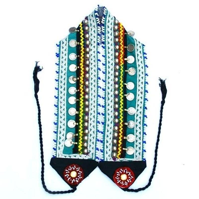 アフガンベルト 男女兼用 コインビーズ 民族ベルトkuchi《ab31》