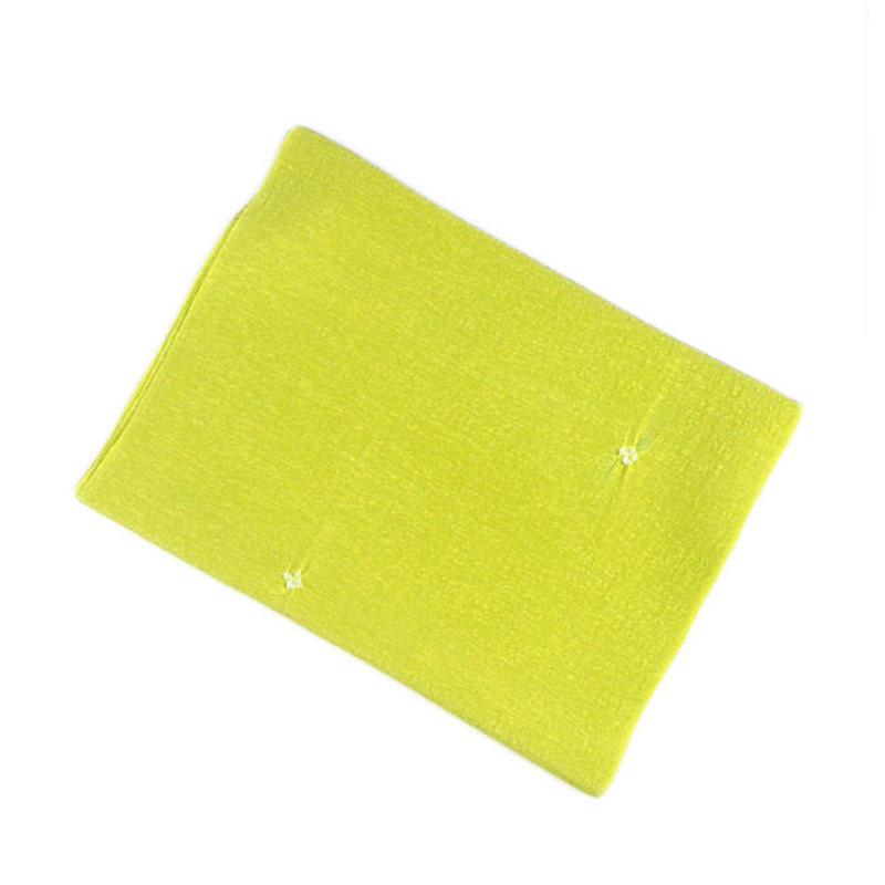 帯揚 /  鹿の子絞り(緑黄色)