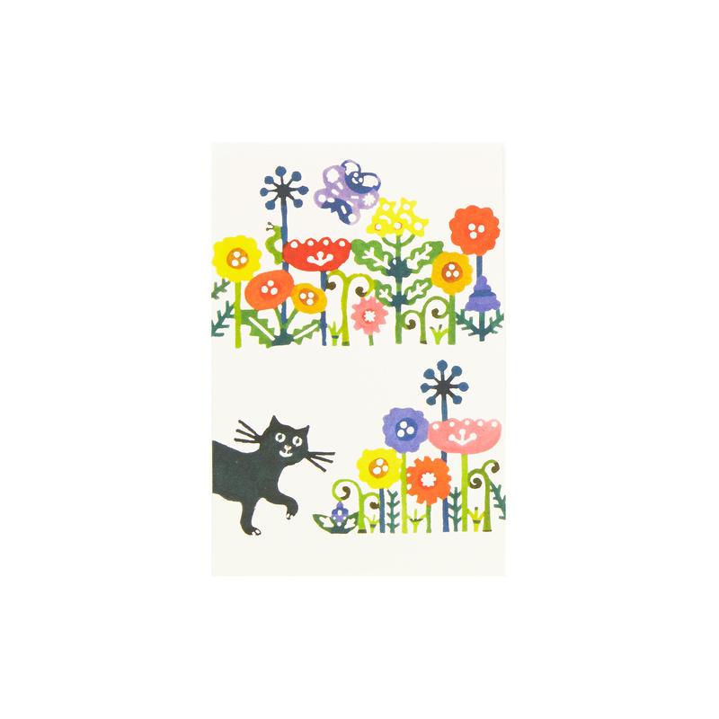 ポストカード:花とねこ