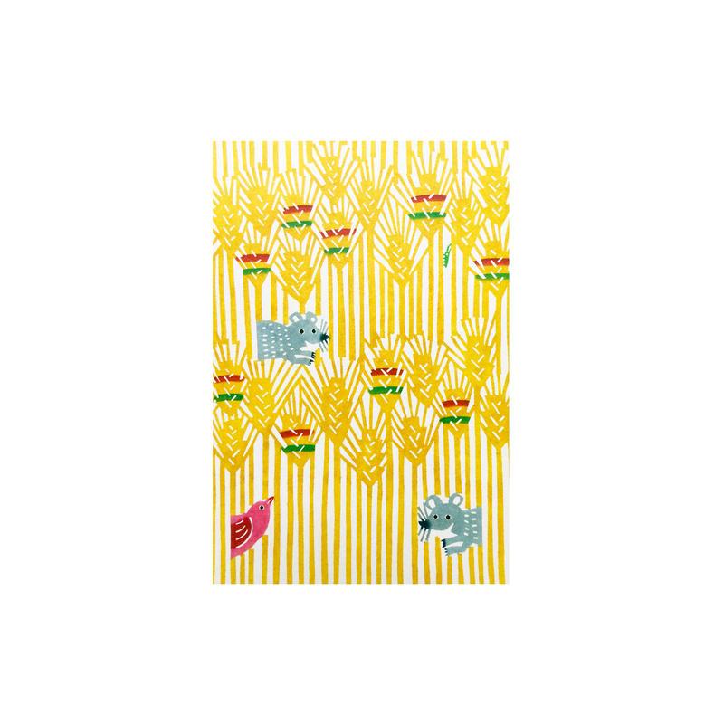 ポストカード:ねずみの親子