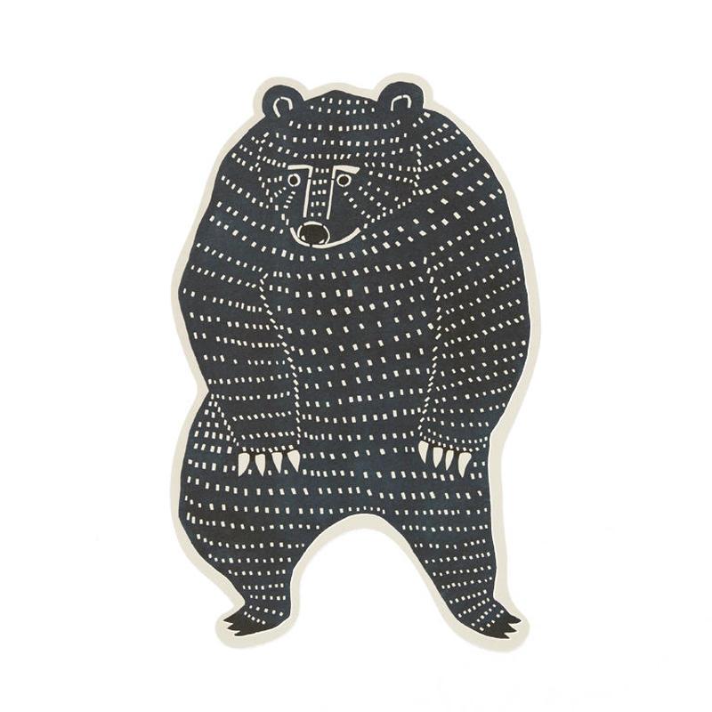 型抜きポストカード:クマ