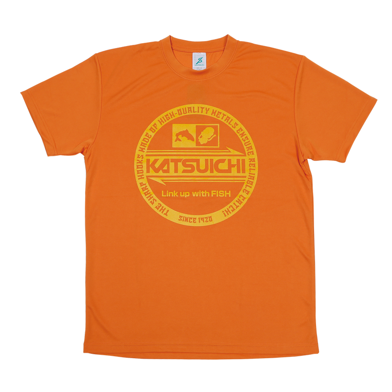 KATSUICHI ドライTシャツ 【KA-105】<オレンジ>