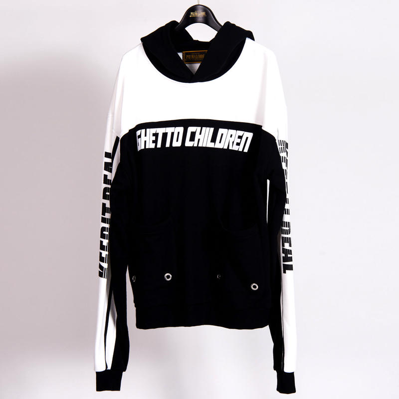 BICOLOR SWEAT PULLOVER(BLACK)