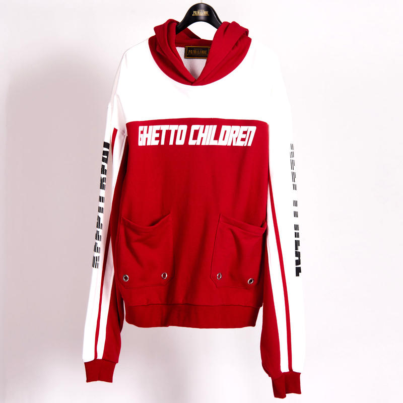 BICOLOR SWEAT PULLOVER(RED)