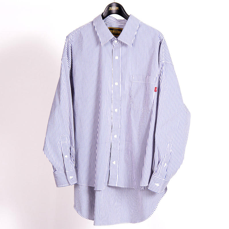 BIG FIT STRIPE SHIRT(BLUE)