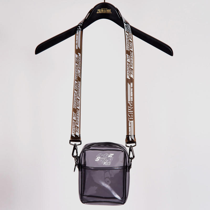 CLEAR SHOULDER BAG(BLACK)