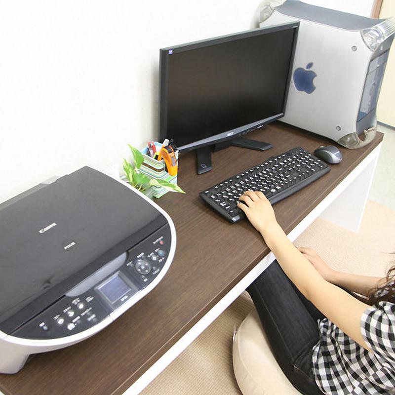 【激安/ネット最安値】薄型パソコンデスク ロータイプ 幅150×奥行45 ブラウン