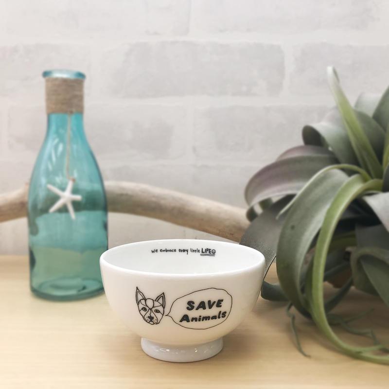 茶碗/宮古島SAVE THE ANIMALS チャリティGoods