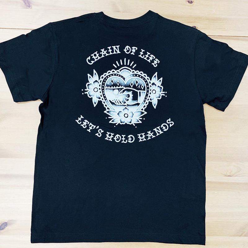 Donation T-shirt/Tatoo art-Chain of Life- Black