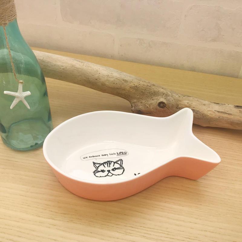 fish shaped bowl/宮古島SAVE THE ANIMALS チャリティGoods