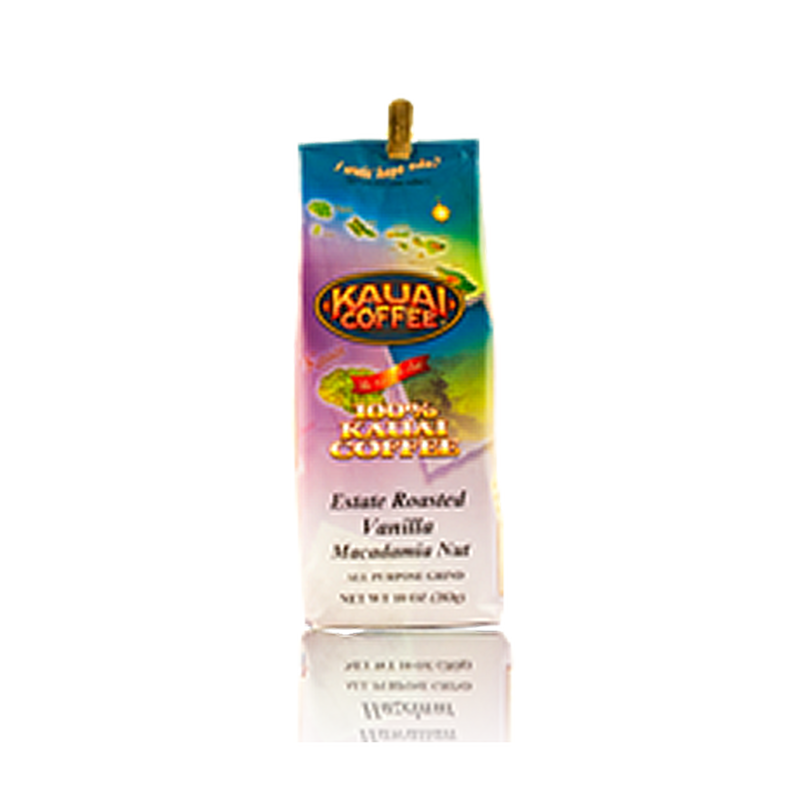 100% Kauai Coffee Vanilla Macadamia Nut -24 oz