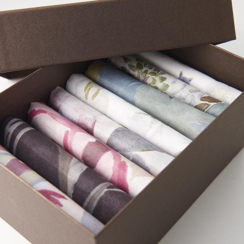 Handkerchief Full Set Giftbox      ハンカチ9枚フルギフトセット