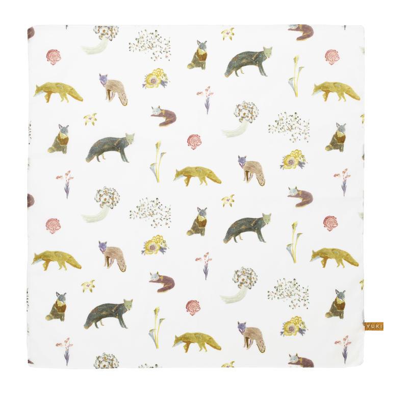 Handkerchief    Fox          ハンカチ キツネ