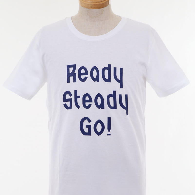 LT001-4 ロゴTシャツ WHITE/NAVY from UK