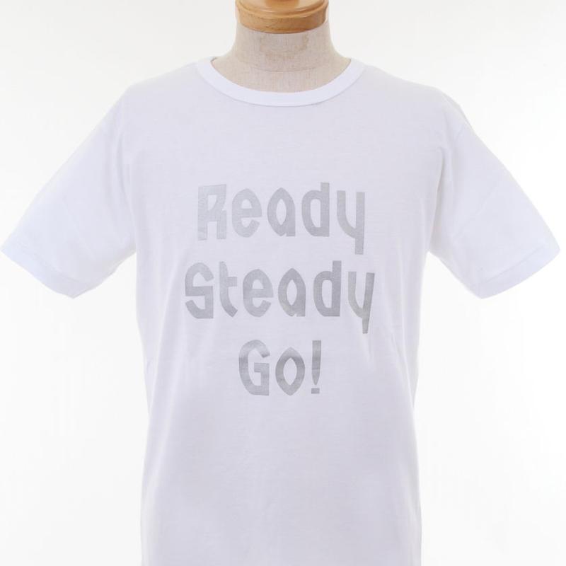 LT001--5 ロゴTシャツ WHITE/MATT SILVER from UK