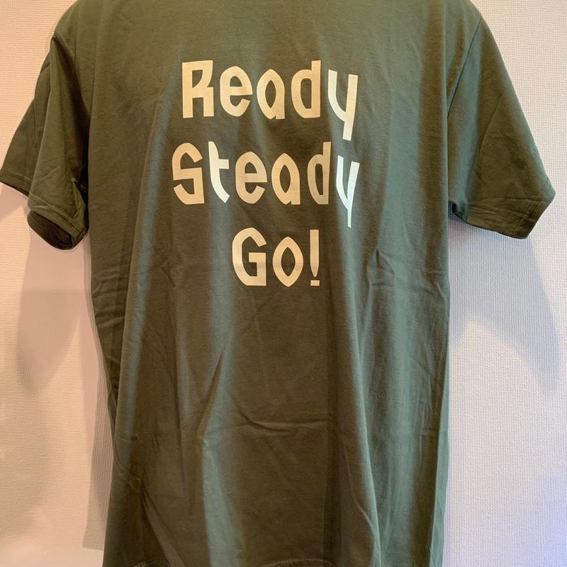 LT-008 ロゴTシャツ Military Green/Beige