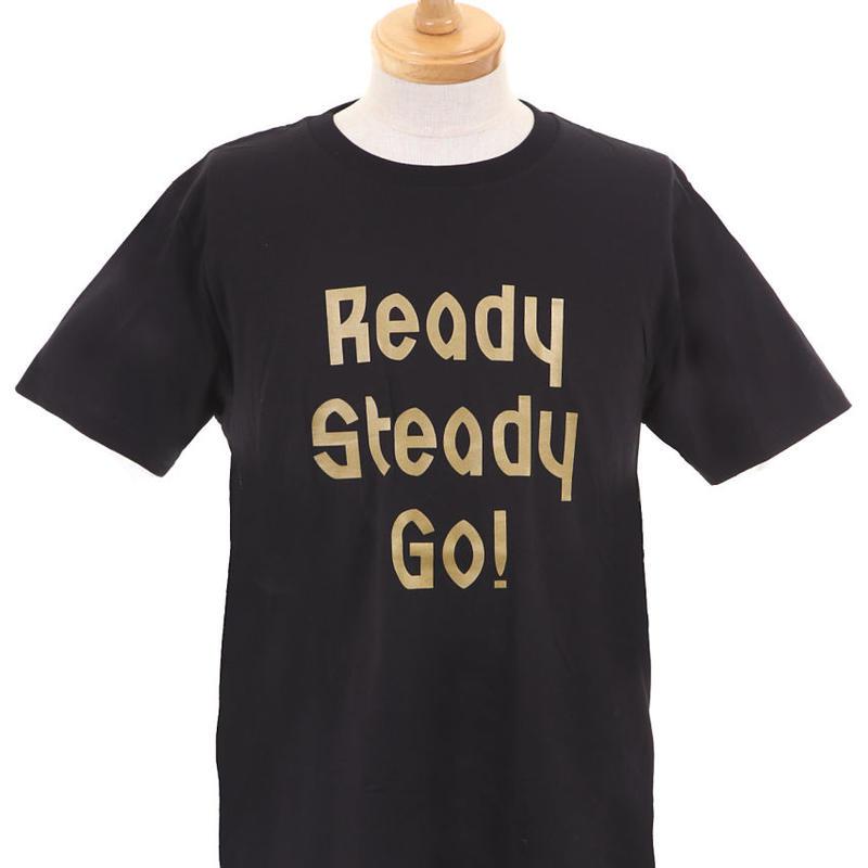LT003 -3  ロゴTシャツ BLACK/MATT GOLD
