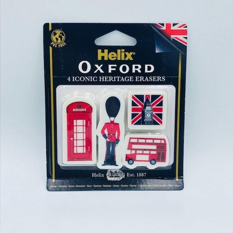 Helix  OXFORD ヘリテージ 消しゴム 4個セット